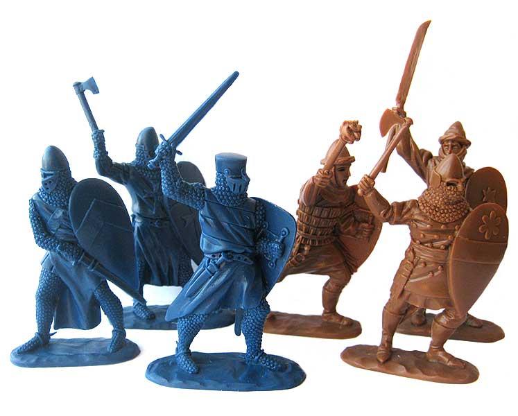 Солдатики рыцари из пластика